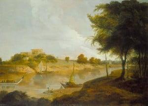 Средневековая Индия. Картина Томаса Дэниэла
